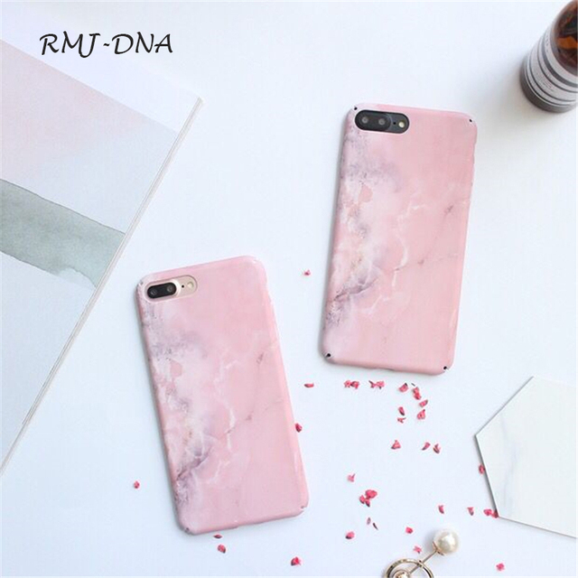 detailed look cf585 7db33 US $3.27  Fashion pink Marble Phone Case For iPhone X 10 coke capa Fashion  Matte Marble hard case For iphone7 6 6 S Plus cover cases caso-in Fitted ...
