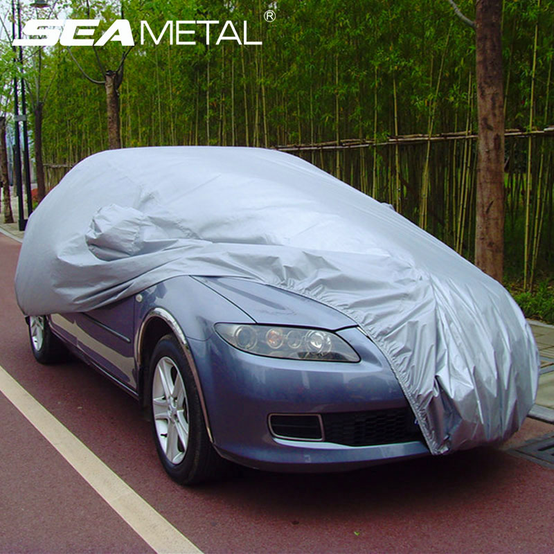 Car Cover Sedan SUV Tent Covers Sun Reflective Shade Rain Frost Snow Dust Waterproof Protection Anti UV Outdoor Car Accessories(China)
