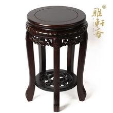 Rosewood shelf bonsai flowerpot base catalpas indoor antique black flowers a few flower carved tiger stool fishbowl rack