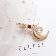 2018 Sailor Moon Stick Hairclip Gold Pink Rhinestone Hairpin Hair Accessories Jewelry
