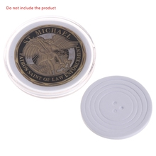Clear Coin Box With Adjustable Pad Commemorative Coin Plastic Collection Storage Jewelry Tool