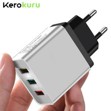 Universal 5V 3A 3USB Fast Charging Fast Charging Wall Charger For iPhone XS MAX X Samsung EU Plug 3 Port Phone Charge for Xiaomi цена и фото
