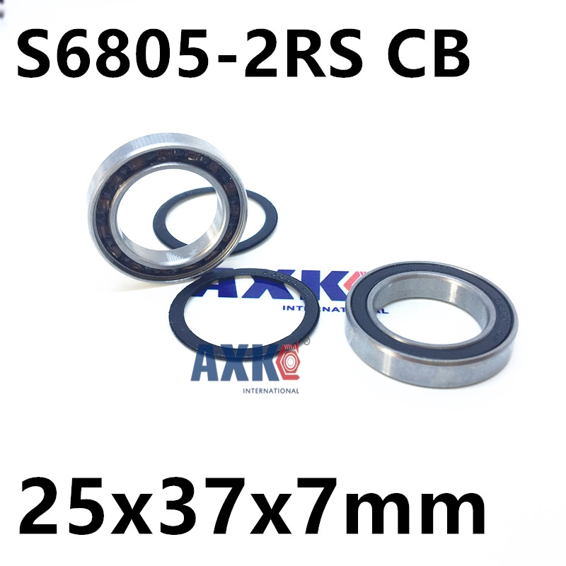 Free shipping S6805-2RS stainless steel 440C hybrid ceramic deep groove ball bearing 25x37x7mm S6805 RS S61805 free shipping s625 2rs cb stainless steel 440c hybrid ceramic deep groove ball bearing 5x16x5mm