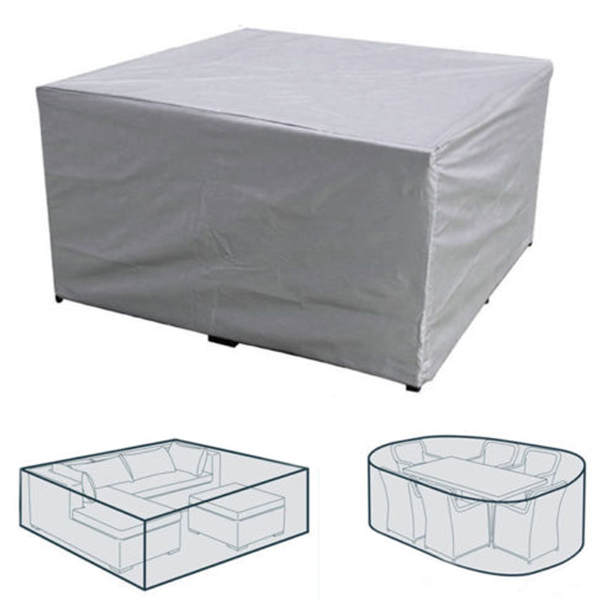 7 Sizes Waterproof Outdoor Patio Garden Furniture Rain Snow Chair covers for Sofa Table  ...