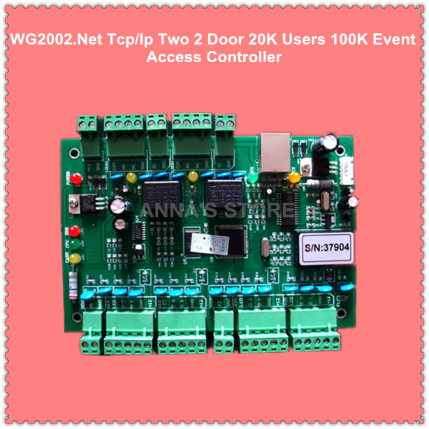WG2002.NET TCP/IP Two 2 Door Access Controller 20K Users 100K Events MEM Fire Protection &Alarm Trigger Programmable logic цена 2017