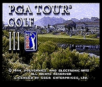 PGA Tour Golf III 16 Bit MD Game Card For 16 Bit Sega MegaDrive Genesis Game