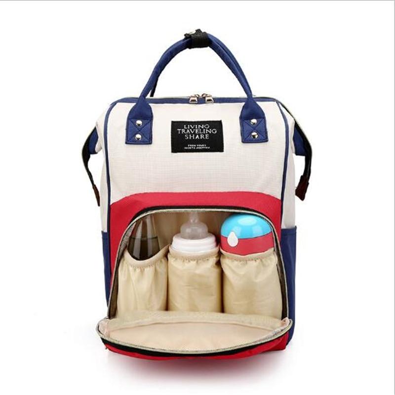 Multi-Function Mummy Maternity Nappy Bag Fashion Patchwork Large Capacity Baby Bag Travel Backpack Nursing Bag for Mom Designer