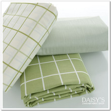 240CM*50CM fresh green grid 100% cotton fabric bed sheets duvet cover baby cloth bedding quilt curtain patchwork fabric tissue