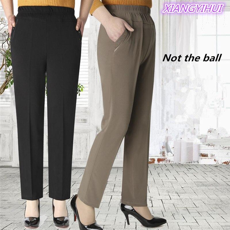 High elastic breathable comfortable Capris Pants Mother Clothing Casual Capris Plus Size Summer Women'S Plus Size Loose M-5XL