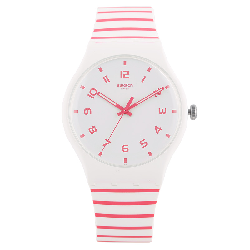 Swatch Watch Original Colorful Series Red and White Color Quartz Watch SUOW150 swatch original colorful quartz watch suob135