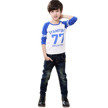 Kids Children Fashion Jeans Boys Elastic Denim Pents Trousers Bottoms Jeans for Boys 7 to 12 Years