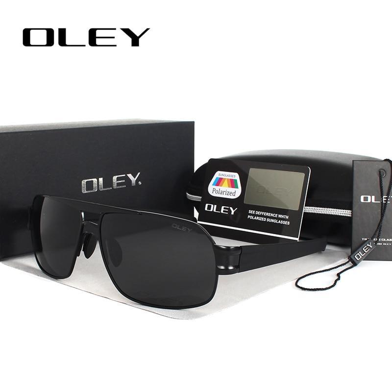 OLEY Polarized pria Sunglasses Merek Designer UV400 Melindungi Kacamata Matahari Pria kacamata memancing Aksesoris homens