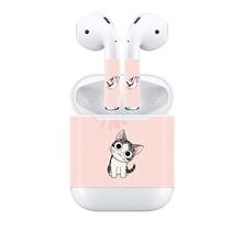 Para A Apple Airpods Protetora Peles Wraps adesivo de pele-o Mais Novo Modelo de fone de ouvido sem fio, Cobertura máxima Disponível rosa