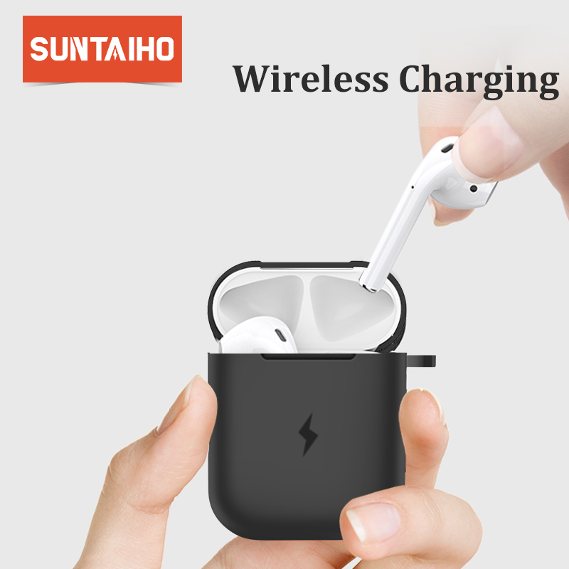 Suntaiho Earphone Case For Apple AirPods Wireless Charger Case for Apple Airpods Cover Bluetooth Headphone Protective box Soft