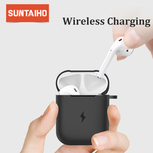 Suntaiho Earphone Case For Apple AirPods Wireless Charger Case for Apple Airpods Cover Bluetooth Headphone Protective box Soft
