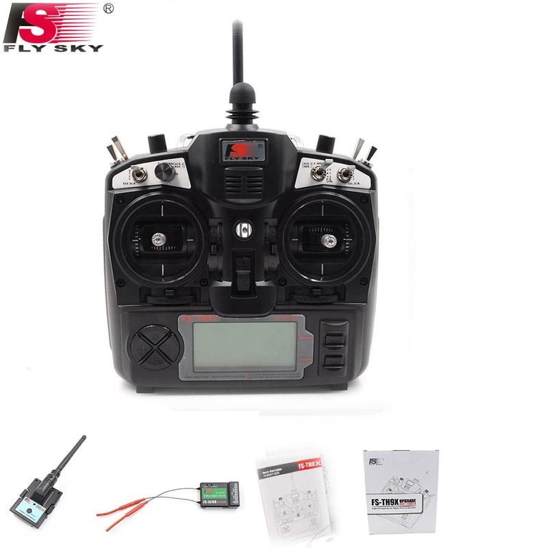 FlySky FS TH9X + IA10B control remoto 2,4G 9CH Radio (FS TH9X + IA10B) 9CH para rc Quadcopter helicóptero aviones envío gratis-in Partes y accesorios from Juguetes y pasatiempos    1