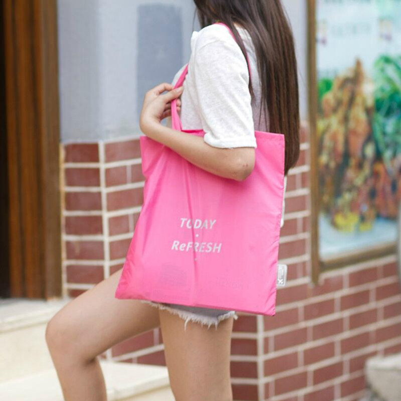 Fashion Unisex Folding Shopping Bag Supermarket Reusable Fabric Grocery Bag Wholesale Bulk Lots Accessories Supplies Gear Items