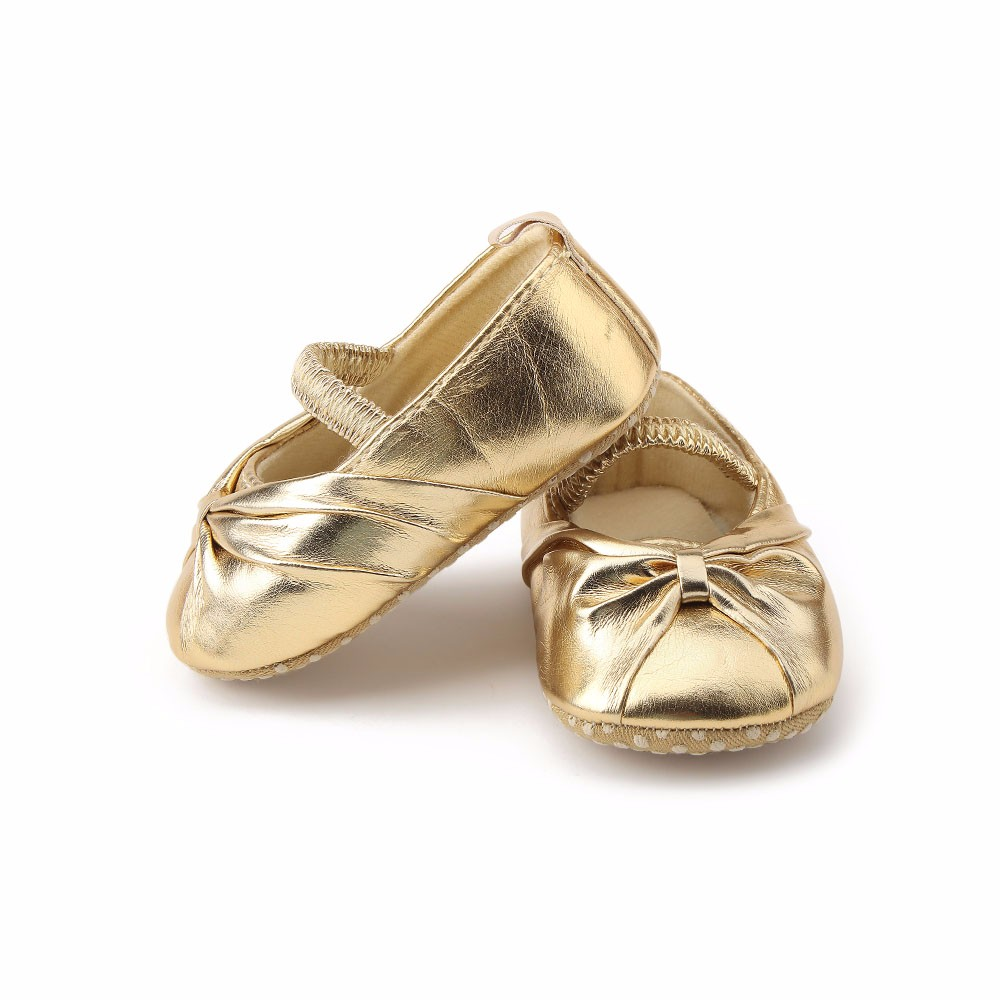 c2b15f164f US $11.04 15% OFF Delebao Pure Gold Newborn Baby Shoes New Hot Sale Elegant  Fold The Princess First Walkers For Spring/Autumn Baby Girl Shoes-in First  ...