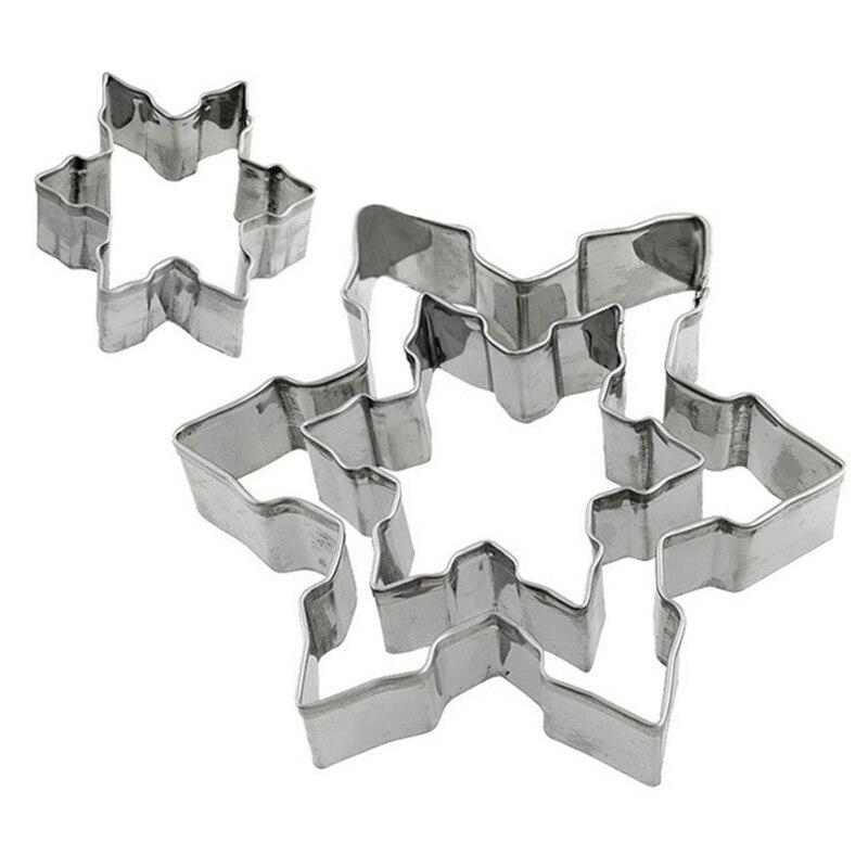 Hot Sale EZLIFE Snowflake Cake Cutter Mold Dies DIY Stainless Steel Snowflake Cake Cutting Dies Cookie Cutter Tools MS654