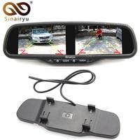 Sinairyu HD 800X480 Dual 4.3 Inch Screen TFT LCD Rear View Car Monitor Mirror 2CH Video In 2PCS Screen Display Universal Version
