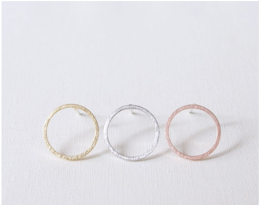 8c7e06ff33d3 Jisensp nueva moda Simple círculo Pendientes para las mujeres Steampunk Ear mujeres  Pendientes redondos regalos Boucle D oreille Pendientes Mujer