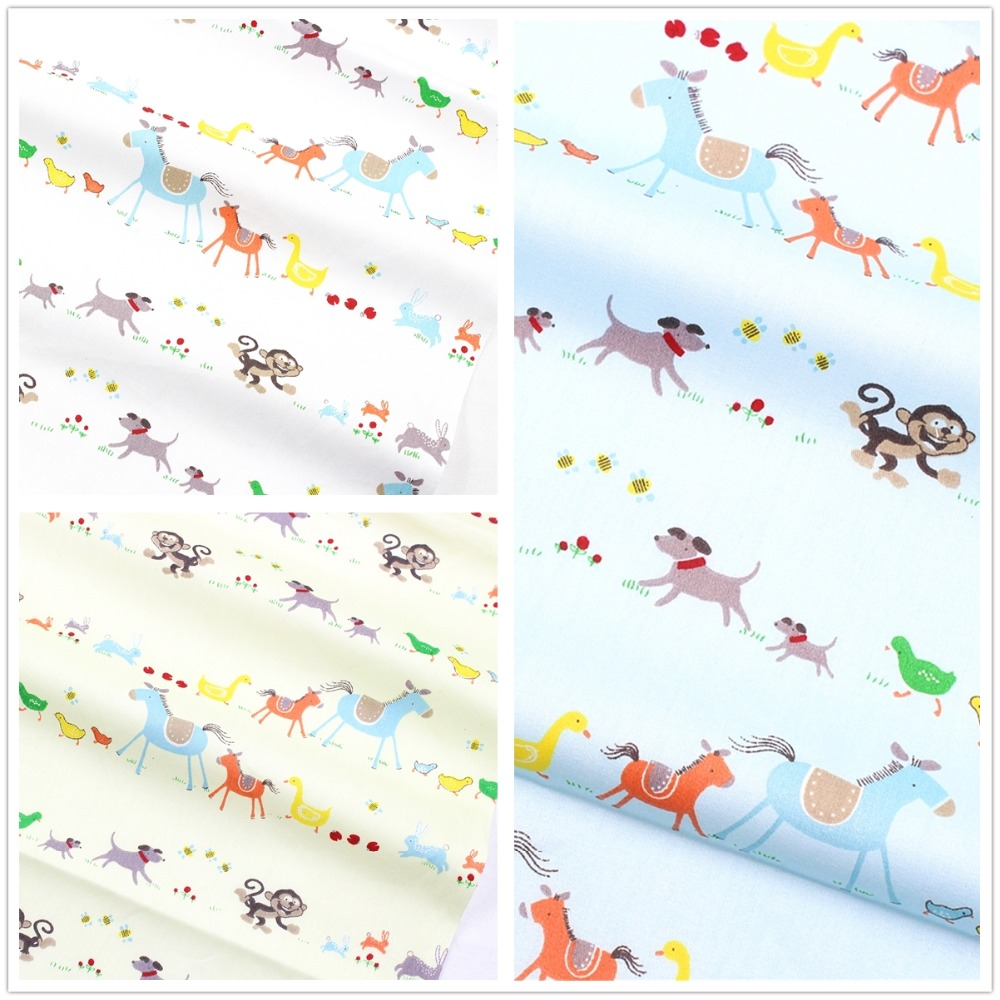 168204 , Clothing accessories 50*150cm horse cotton fabric,crafts handmade patchwork cotton fabric home textile free shipping