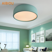 AIBIOU Modern Colorful Ceiling Lights Round Ceiling Lamp For Bedroom Corridor Led Kithen Lighting Fixtures Metal Dining Light trazos adjustable ceiling lights corridor lamp metal led ceiling mount bulbs light e27 coffee bar lamps home lighting fixtures