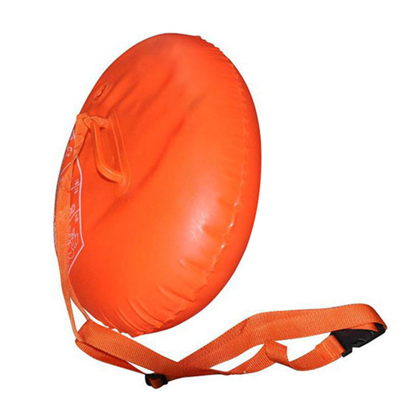 Orange Inflatable Airbag Swimming Upset Buoy Outdoor Safety Swim Device Upset Inflated Flotation Pool Open Water Sea Lifesaving hot anti drowning bracelet rescue device floating wristband wearable swimming safe device water aid lifesaving for adult kids