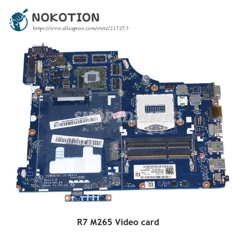 NOKOTION VIWGQ/GS LA-9641P Laptop Motherboard For Lenovo G510 MAIN BOARD HM86 DDR3L R7 M256 Video card все цены