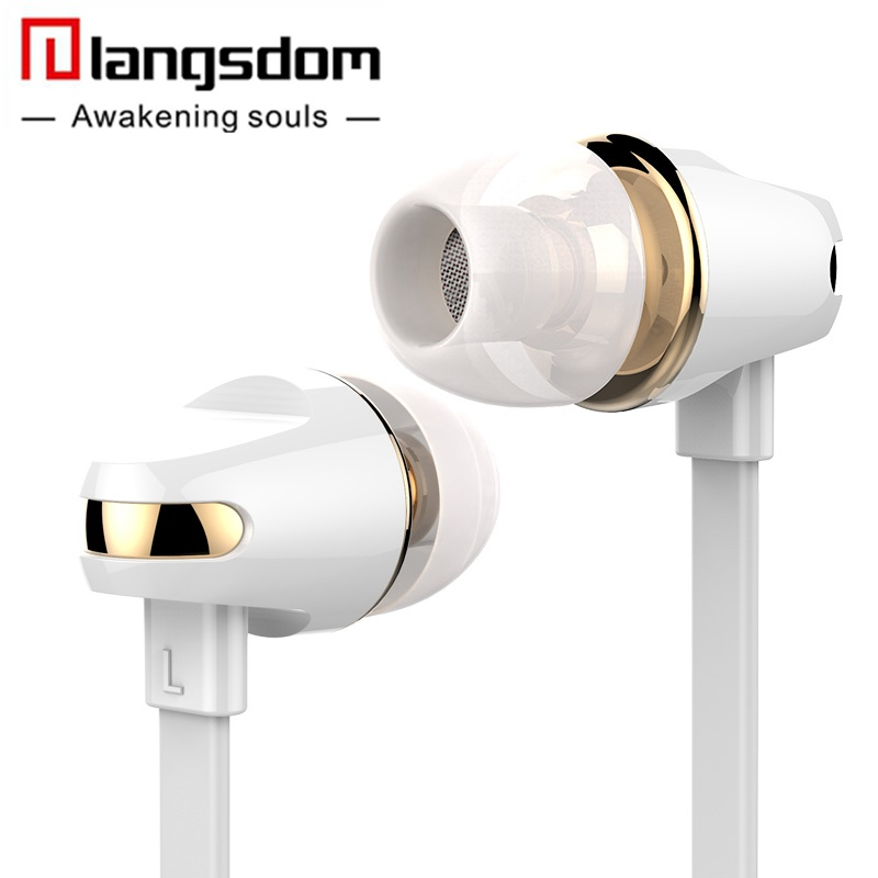 Official Langsdom In-ear Stereo Hifi Earphone Earbuds Bass Headsets with Microphone for Phone yotaphone xiaomi fone de ouvido смартфон yotaphone 2