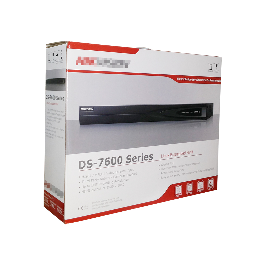 Upgradable NVR 16 POE DS-7616NI-E2/16P POE NVR with 16CH PoE Port Up to 6 Megapixels recording 2 HDD Network video recorder 16ch poe nvr 1080p 1 5u onvif poe network 16poe port recording hdmi vga p2p pc