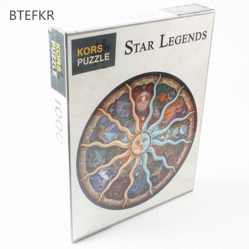 1000 PCS Zodiaque Horoscope Puzzle Jouets adualt Enfants puzzle Raphael DIY Constellation Jigsaw Puzzles De Luxe Cadeau pour Les Fans