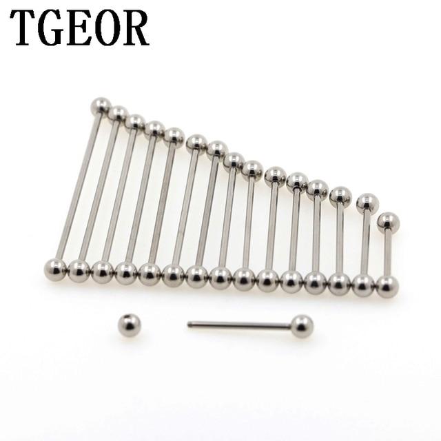 Hurtownie rusztowania sztanga 100 sztuk ze stali nierdzewnej 14G 5mm piłka przemysłowe proste sztanga piercing darmowa wysyłka