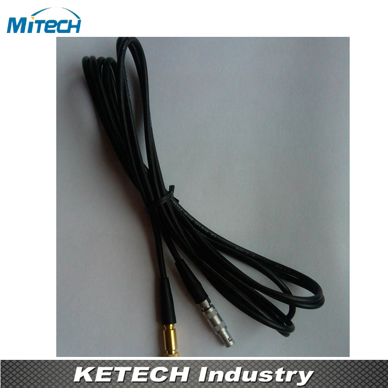 LEMO00 Connector  Subvis Connection Cable For Ultrasonic Flaw Detector(C5-S5) mitech 60 degree angle beam probe transducer 2mhz 20x22mm for mfd350b mfd500b mfd620c mfd650c mfd800c ultrasonic flaw detector