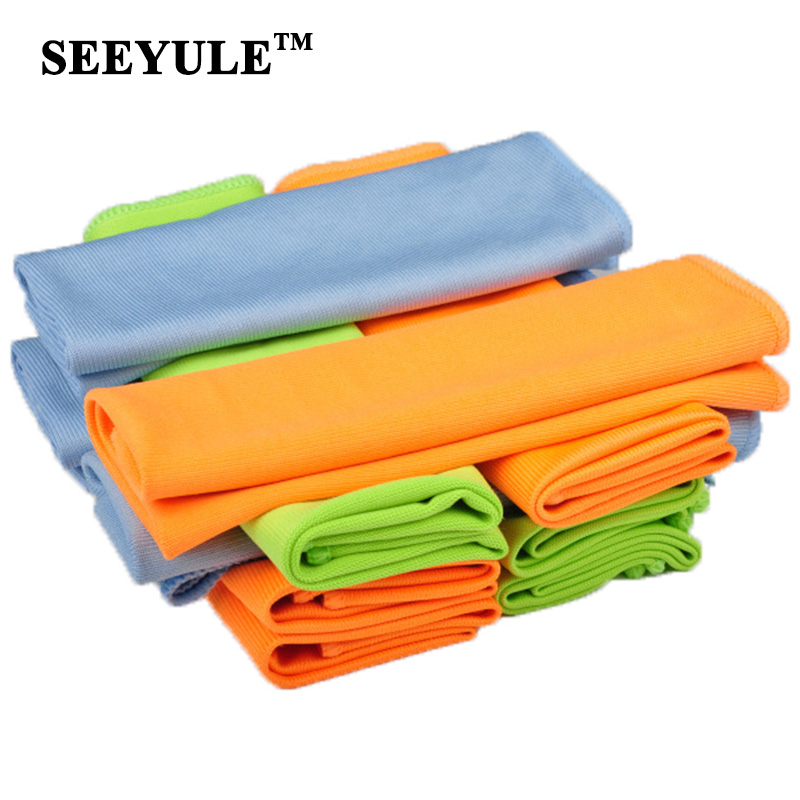 1pc SEEYULE Microfiber Car Wash Towel Dish Kitchen Cleaning Cloth Window Floor Detailing Strong Dust Remove