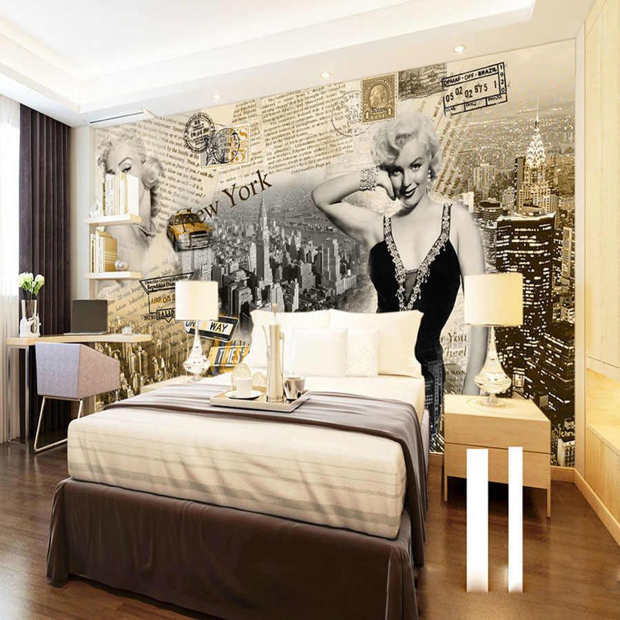 Сексуальная Богиня суперзвезда Мэрилин Монро газета классические 3D обои для стен спальни настенные рулоны домашний декор гостиной