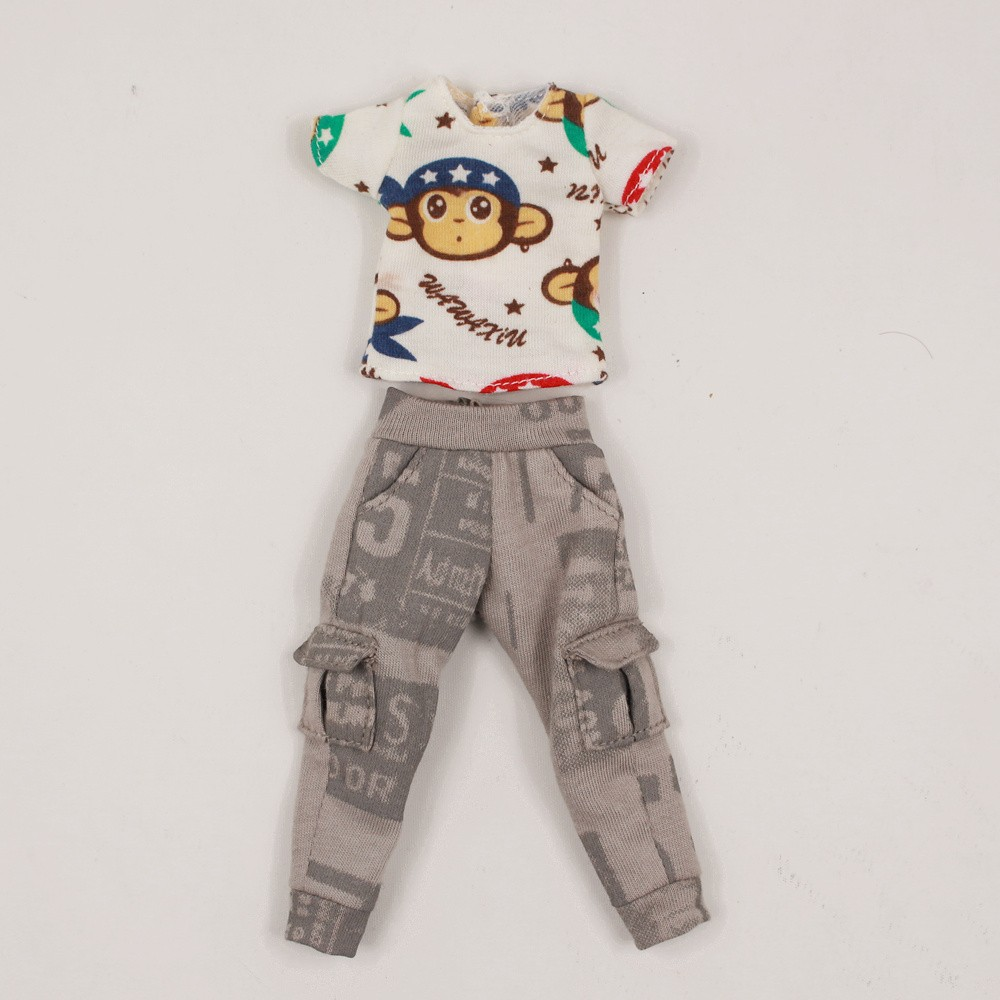 Neo Blythe Doll Shirt With Casual Pants & Rompers Suit 9