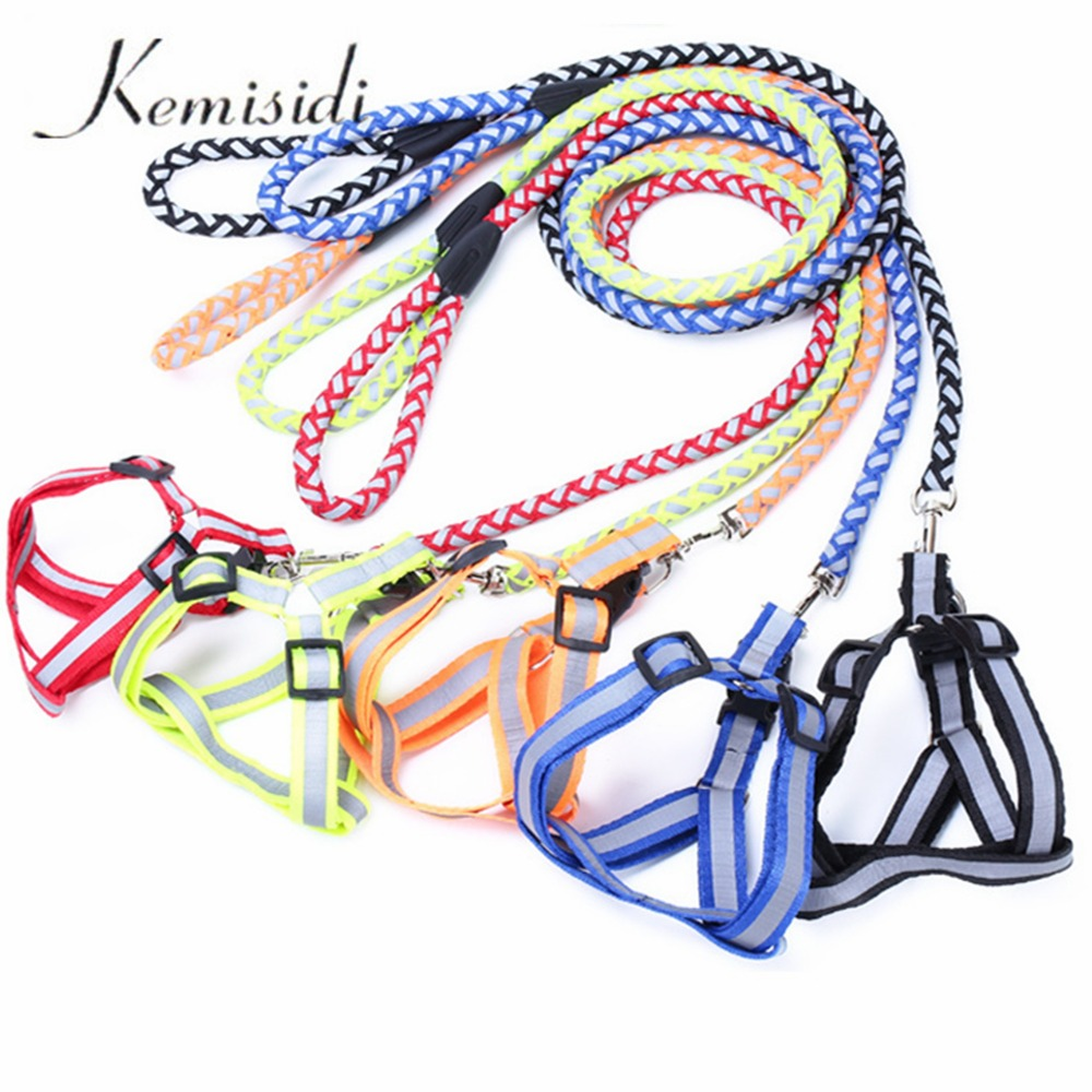 KEMISIDI High Quality Reflective Knit Traction Rope Durable For Pets Dog Chain Chest Strap Free Shipping Supplies S, M ,L Size