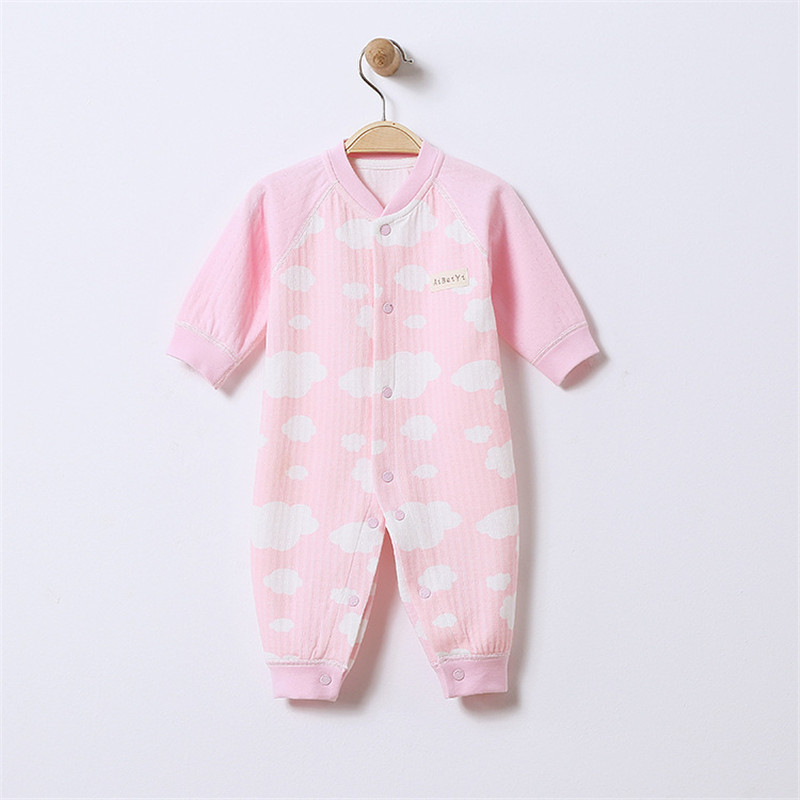 Jumpsuits Buttons Up 100 Cotton Long Sleeves Cute Absorbent Breathable Coveralls 3 9 Months in Rompers from Mother Kids