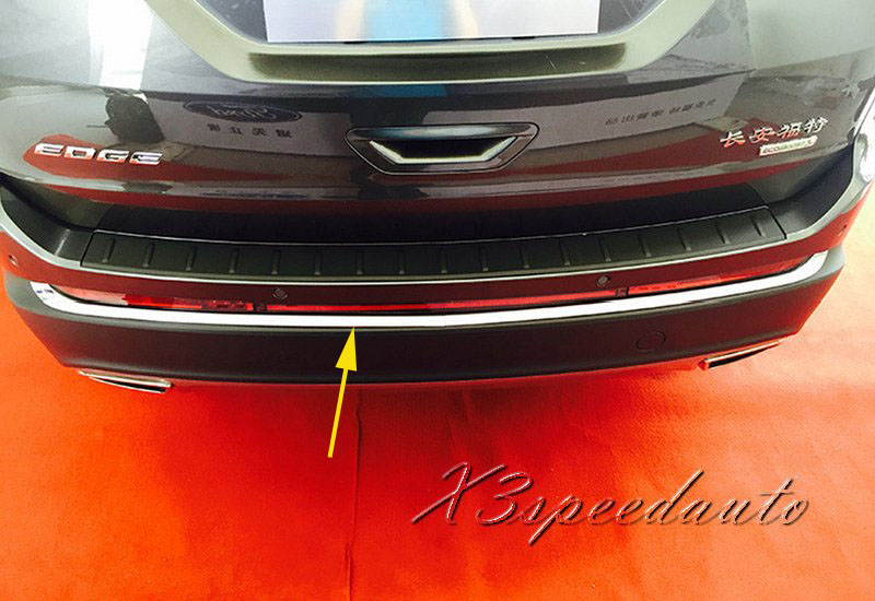 free shipping chromed 2pcs rear bumper protector guard trim for ford edge 2015 2016 2017