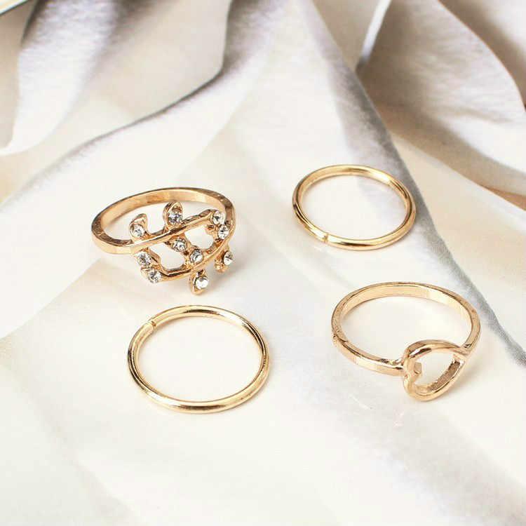 1 ชุดแหวนช้างสไตล์สี Knuckle แหวนสำหรับ Unisex Finger Knuckle แหวน