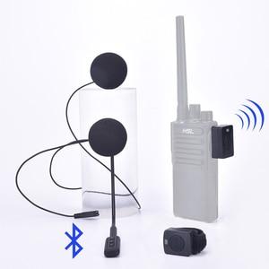 Image 1 - トランシーバーハンズフリーヘルメット Bluetooth ヘッドセット 18K/M タイプ用のワイヤレスヘッドフォンオートバイヘルメット機関車ヘルメット