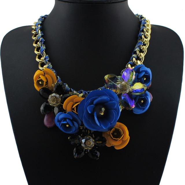 Paint Metal Flower Necklace