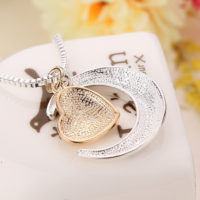 I Love You Mom Heart Pendant Necklace