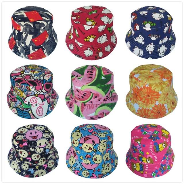 Bnaturalwell Trẻ Em Ngoài Trời Floral Bucket Hat Panama cap Dễ Thương Cotton Gái Trai Bãi Biển Mùa Hè Fedora Cap Fisherman Cap H391