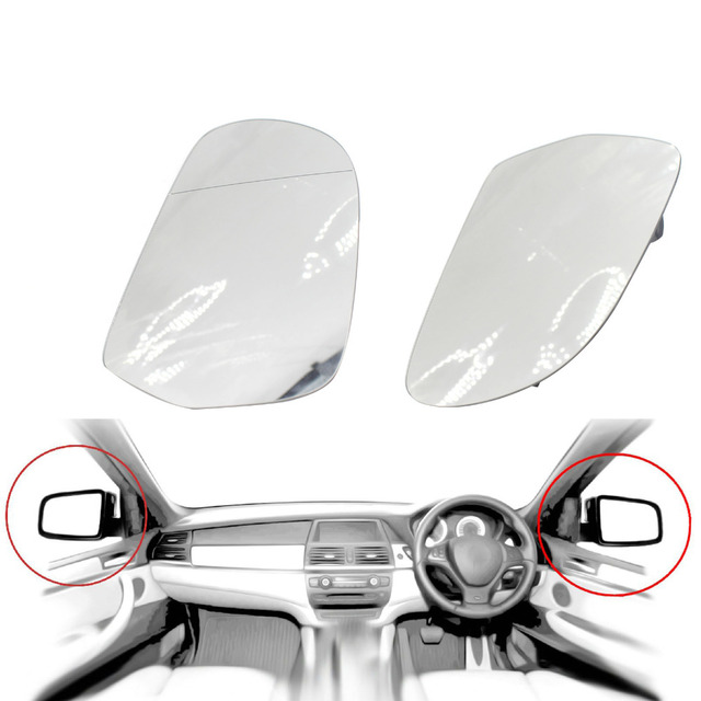 1 Pair For Audi A4/B8/C6 09-12 Door Wing Mirror Glass Heated Tinted Right Side Car Mirror Rearview Rear View Lens New