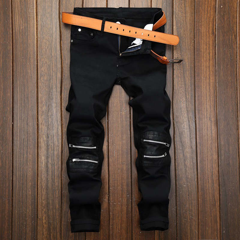 Streetwear Pants Mens Distressed Jeans Ripped Jeans For Men Famous Brand Designer Biker Hip Hop Swag