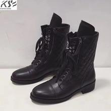 designer winter genuine leather boots women luxury designer brand female fashion really leather winter boots women