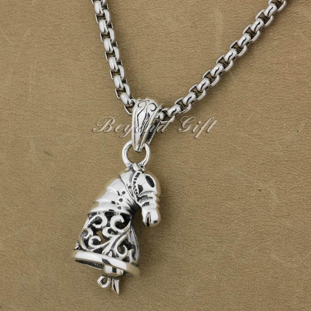 Pendentif de mode en argent Sterling 925 avec pendentif en forme de cloche 9R004A (collier 24 pouces)