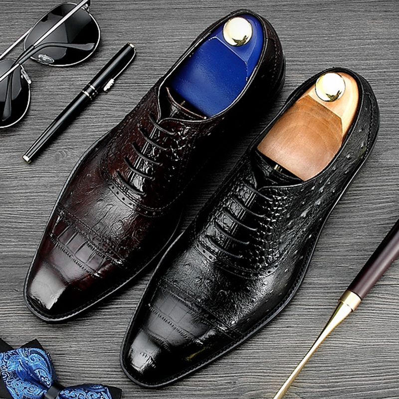 Men/'s Prom Dress Shoes Formal Oxford Casual Italian Lace Up Wedding Party